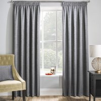 Matrix Ready Made Thermal Blockout Curtains Grey from Tyrone