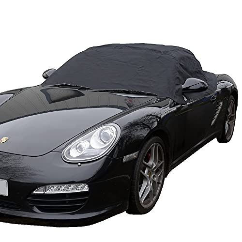 UK Custom Covers RP114 Tailored Soft Top Roof Half Cover - Black from UK Custom Covers