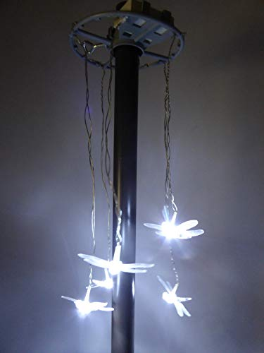 UK-Gardens Dragonfly/Butterfly Parasol Lights - 5 Bright White LED's Battery Operated (Dragonfly) from UK-Gardens
