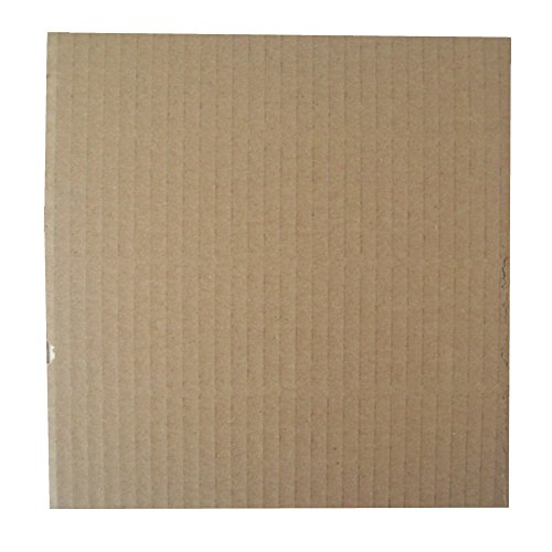 "100 BROWN CORRUGATED CARDBOARD STIFFENER PADS PROTECTIVE SHEETS BOARDS - APPROX SIZE 190x190mm SQUARE - TO FIT UKPS 7"" RECORD VINYL MAILERS ENVELOPES - PACKAGING MAILING POSTAL POSTAGE EXTRA PROTECTION from UKPS"