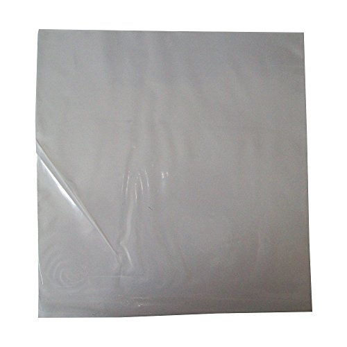 "100 LARGE 12"" LP CLEAR PLASTIC RECORD VINYL SLEEVES COVERS PROTECTORS 250 GAUGE - SIZE 315 x 328mm - TRANSPARENT POLYTHENE DISPLAY WALLETS - SCRATCH / MARK PROTECTION - PROTECTIVE PACKAGING - SCRATCHING MARKING PREVENTION from UKPS"