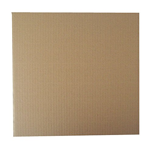 "50 BROWN CORRUGATED CARDBOARD STIFFENER PADS PROTECTIVE SHEETS BOARDS - APPROX SIZE 320x320mm SQUARE - TO FIT UKPS 12"" RECORD VINYL MAILERS ENVELOPES - PACKAGING MAILING POSTAL POSTAGE EXTRA PROTECTION from UKPS"