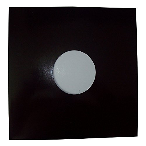 "50 QUALITY LARGE GLOSS FINISH BLACK CARD 12"" LP RECORD VINYL SLEEVES COVERS PROTECTORS WITH LARGE CENTRE HOLE - SIZE 310 x 305mm - SCRATCH / MARK PROTECTION - PROTECTIVE PACKAGING - SCRATCHING MARKING PREVENTION from UKPS"