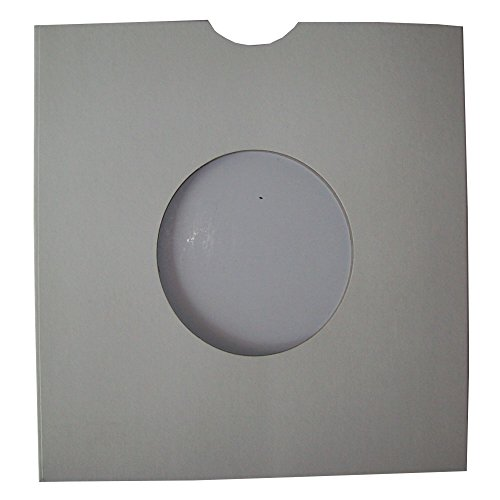 "50 SMALL WHITE CARD 7"" 45rpm RECORD VINYL MASTERBAG SLEEVES COVERS PROTECTORS WITH LARGE CENTRE HOLE - SIZE 182 x 182mm AND THUMB / FINGER CUT OUT - MASTERBAGS MATT FINISH - SCRATCH / MARK PROTECTION - PROTECTIVE PACKAGING - SCRATCHING MARKING PREVENTION from UKPS"