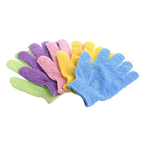 ULTNICE Exfoliating Bath Gloves for Body Scrub Exfoliator 4 Pairs from ULTNICE