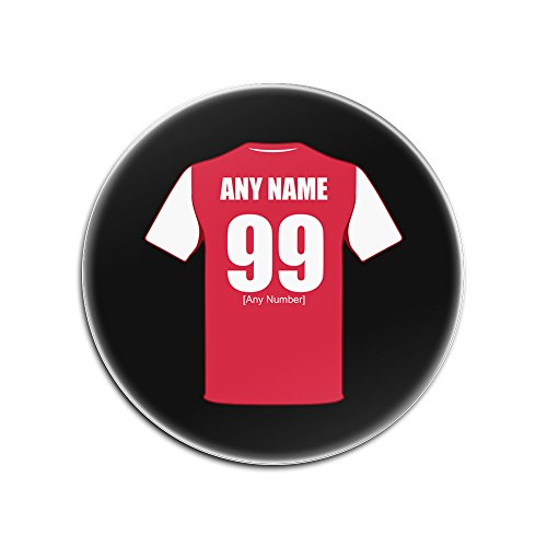 UNIGIFT Personalised Gift - Arsenal Glass Round Coasters (Football Club Design Theme, Colour Options) - Any Name/Message on Your Unique Mat Pad - The Gunners from UNIGIFT