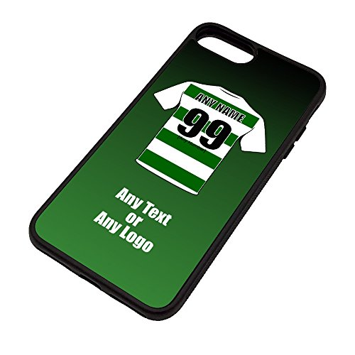 UNIGIFT Personalised Gift - Celtic iPhone 7/8 Case (Football Design) - Any Name Message Unique TPU Mobile Cover Apple - The Hoops Celts Club from UNIGIFT