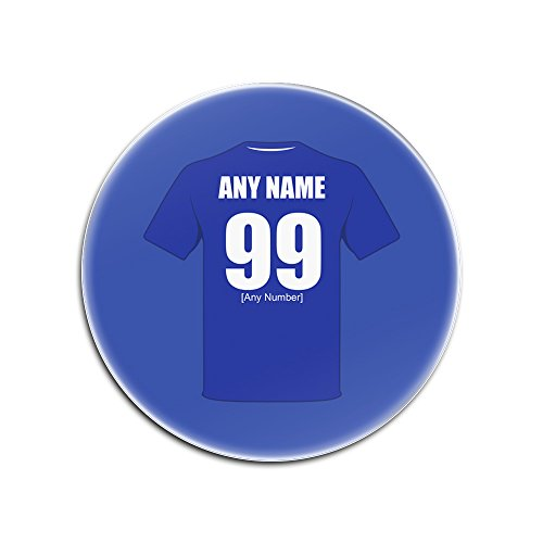UNIGIFT Personalised Gift - Everton Glass Round Coasters (Football Club Design Theme, Colour Options) - Any Name/Message on Your Unique Mat Pad - The Toffees Blues School of Science Peoples Club from UNIGIFT