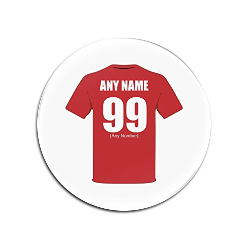 UNIGIFT Personalised Gift - Manchester United Glass Round Coasters (Football Club Design Theme, Colour Options) - Any Name/Message on Your Unique Mat Pad - The Red Devils Army Reds from UNIGIFT