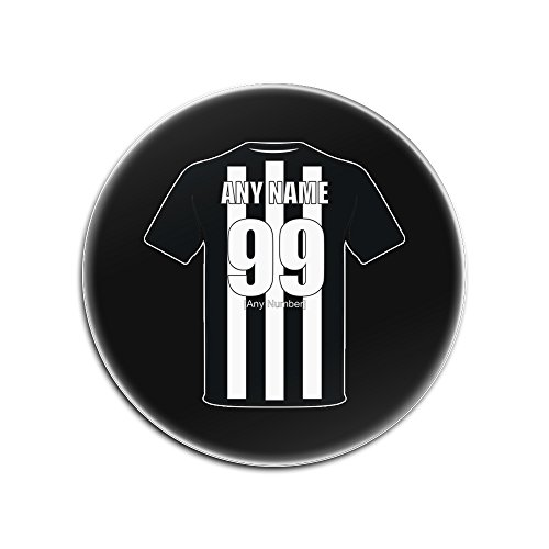 UNIGIFT Personalised Gift - Newcastle United Round Gloss Hardboard Coaster (Football Club Design Theme, Colour Options) - Any Name/Message on Your Unique Mat Pad - The Magpies Toon Geordies from UNIGIFT