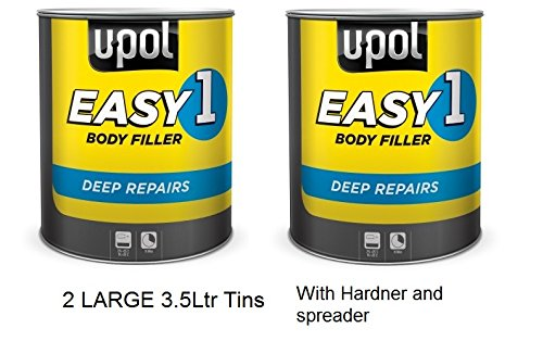 Car Paint Body Filler U-Pol Easy One Easy Sand. 2 Large 3.5 Litre Tins from UPol