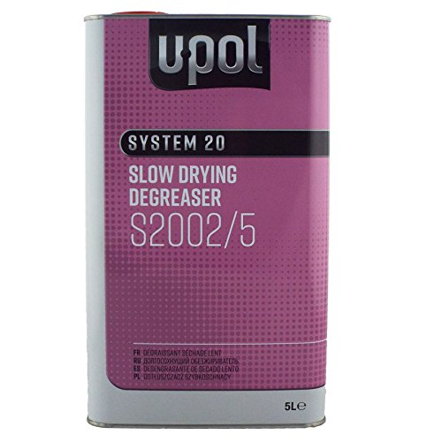 U-Pol System 20 Slow Panel Wipe & Degreaser 5L UPol Panelwipe Anti-Static and Anti-Silicone Panel Wipe 5 Litres Slow Degreaser for Larger Panel Repairs & Resprays from UPol
