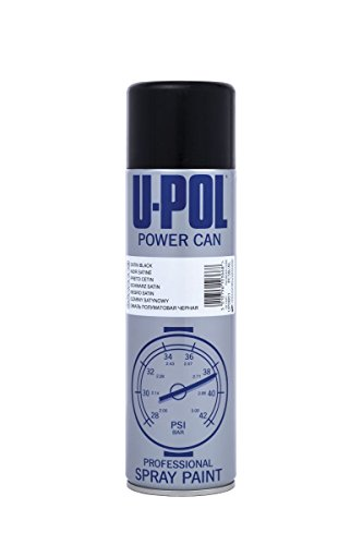 UPol Power Can Satin Black Aerosol 500ml pcsb/AL from UPol