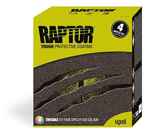 UPol Raptor Tintable Tough Urethene Coating Truck Bed Liner Kit - Trailers 2Pack Protects Against Rust/Corrosion/Salt/Damp/Extreme Temperatures Restores to an Even/Prestine Finish Colour Match from UPol