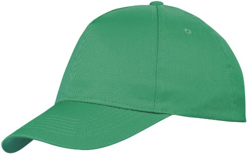 US BASIC 5 PANEL CHILDRENS BASEBALL CAP HAT - 13 COLOURS (KELLY GREEN) from US BASIC