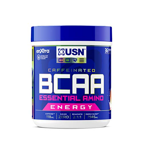 USN Bcaa Power Punch Pls Energy, Amino Acid Energy Blend With Caffeine and Taurine, Watermelon, 400 g from USN