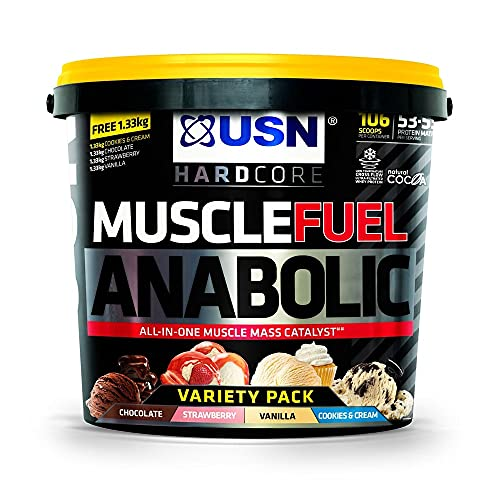 USN Muscle Fuel Anabolic Lean Muscle Gain Shake Powder, 5.32 kg from USN