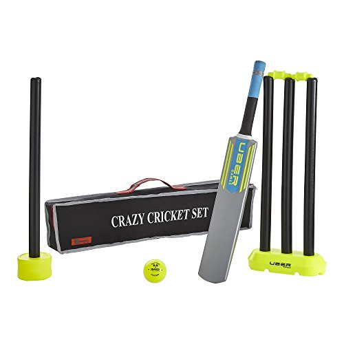 Crazy Cricket Set - Micro - Bat Size 0 - Kwik, Quick, Beach, Park Games, Fun, Outdoor (Micro) from Uber Games