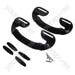 2 X Universal Black Plastic Fridge Freezer Door Grab Handle from Ufixt