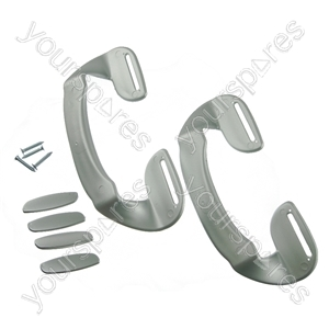 2 X Universal Silver Plastic Fridge Freezer Door Grab Handle from Ufixt