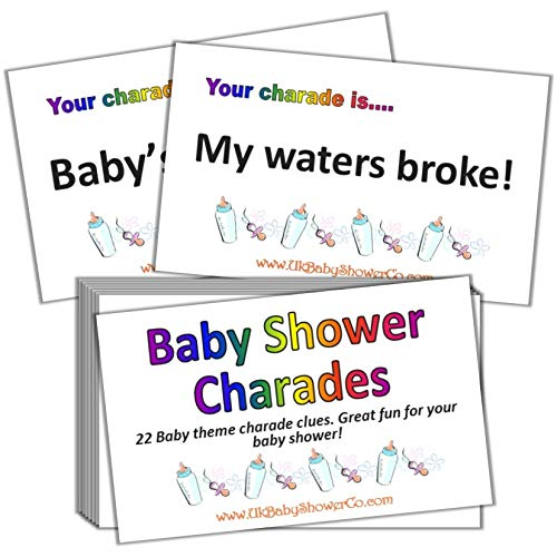 Baby Shower Party Game - Charades (Rainbow) from Uk Baby Shower Co