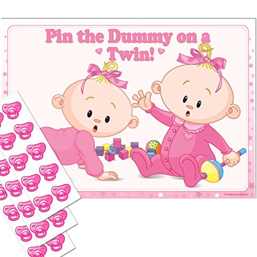 Uk-Baby-Shower-Co-Twins-Baby-Shower-Game-Pin-the-Dummy-on-a-TWIN-(30-Dummies-NO-Blindfold,-PINK)-610670415 Grandma Sash Baby Shower