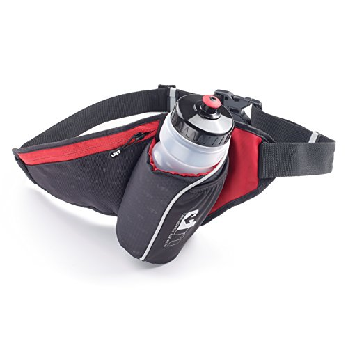 Ultimate Performance Unisex's Ribble II Hydration Waist Pack, Black/Red, One Size from Ultimate Performance