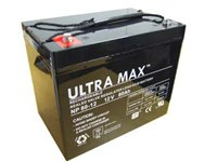2 x ULTRA MAX 12V 80Ah (as 70Ah & 75Ah) - MOBILITY SCOOTER WHEELCHAIR BATTERY from Ultramax