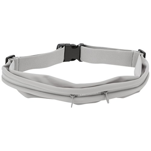 Ultrasport Unisex's Sport Belt Bag Runningbelt with 2 Zipped Compartments, Grey, One Size from Ultrasport