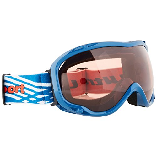 Ultrasport Unisex's with Anti-Fog Lens Ski Snowboarding Goggles, Blue/Rosa, OS from Ultrasport