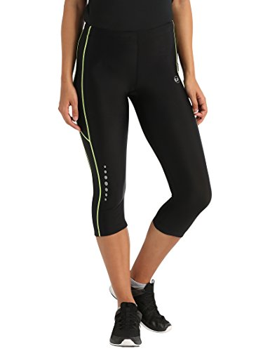 Ultrasport Women's Running Pants with Compression Effect & Quick-Dry-Function, Black/Neon Yellow, XS from Ultrasport