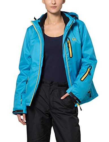 Ultrasport Softshell Women's Serfaus with Ultra Flow 10.000 Soft Shell Jacket-Vivid Blue/Mimosa, X-Small from Ultrasport