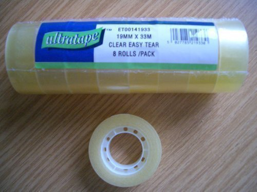 Ultratape 3 X 8 Rolls Clear Sticky Tape 19mm x 33m from Ultratape
