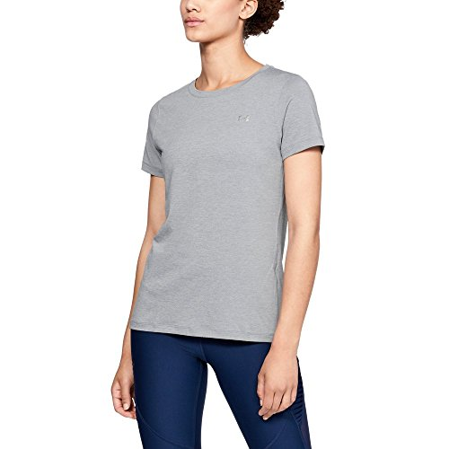 Under Armour Hg Short-Sleeve Shirt - Steel Light Heather/Metallic Silver, Small from Under Armour