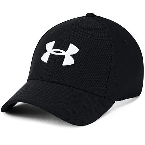 Under Armour Men's Baseball Cap UA Blitzing 3.0, Comfortable Snapback for Men with Built-In Sweatband, Breathable Cap for Men Black / Black / White (001) ,L/XL from Under Armour