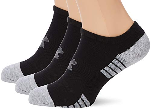 Under Armour Heatgear Tech Noshow 3Pk Unisex Socks, Black / Graphite (001), Large from Under Armour