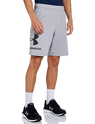Under Armour Men's Sport Style Cotton Graphic Short, Steel Light Heather/Black, Large from Under Armour