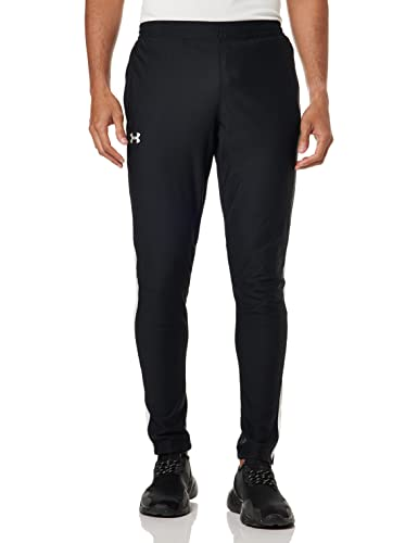 Under Armour SPORTSTYLE PIQUE TRACK Pants, Light and Quick-Drying Tracksuit Bottoms, Comfortable Men's Joggers for Workouts and Sport Men,Black (Black/White (001)),XL from Under Armour