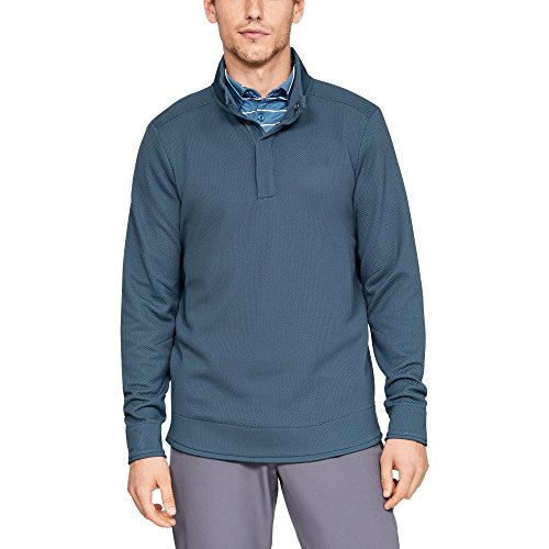 Under Armour Men's Storm SF Snap Mock Warm-up Top, Static Blue, X-Large from Under Armour