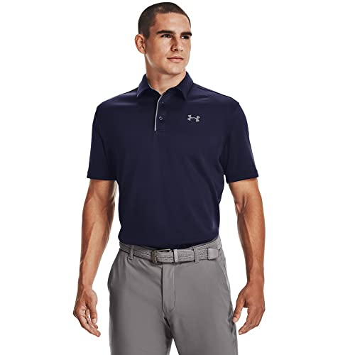 Under Armour Tech Polo Men's Polo Tee, Lightweight and Breathable Polo T Shirt for Men, Comfortable Short Sleeve Polo Shirt from Under Armour