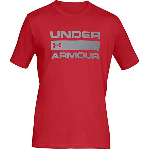 Under Armour Men's UA Team Issue Wordmark Short Sleeve T Shirt for Men with Graphic Design, Loose-Fit Sport and Fitness Clothing, Red (Red), XL from Under Armour