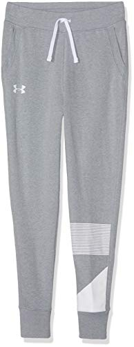 2e997ddfd Under Armour Rival Jogger Trousers - Steel Light Heather/White, Youth  Medium from Under