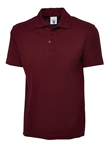 Uneek 220Gsm Unisex Classic Polo Shirt - Maroon - XXX-Large from Uneek clothing