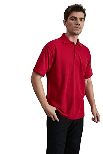 Uneek 220Gsm Unisex Classic Polo Shirt - Red - Small from Uneek clothing