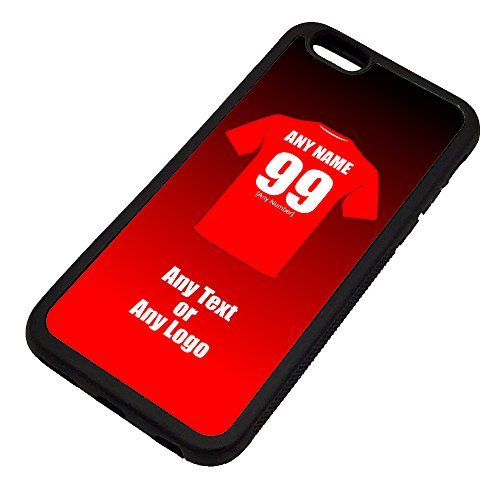 UNIGIFT Personalised Gift - Bristol City iPhone 6 / 6s Case (Black, Football Club Design Theme) - Any Name/Message on Your Unique - Apple TPU - The Robins from UNIGIFT