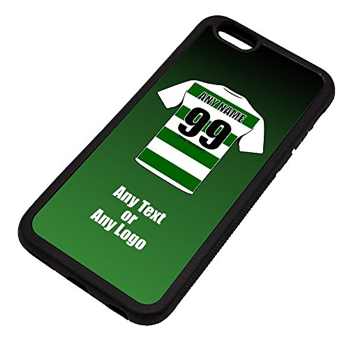 UNIGIFT Personalised Gift - Celtic iPhone 6 / 6s Case (Black, Football Club Design Theme) - Any Name/Message on Your Unique - Apple TPU - The Bhoys Hoops Celts from UNIGIFT