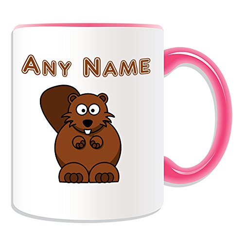 UNIGIFT Personalised Gift - Silly Beaver Mug (Animal Design Theme, Colour Options) - Any Name/Message on Your Unique - Big Front Teeth from UNIGIFT
