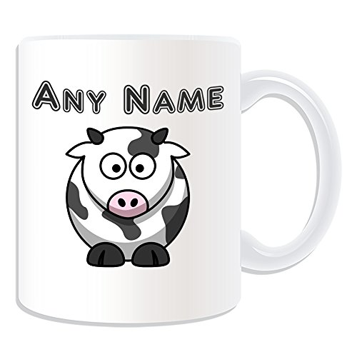 UNIGIFT Personalised Gift - Silly Cow Mug (Animal Design Theme, White) - Any Name/Message on Your Unique from UNIGIFT