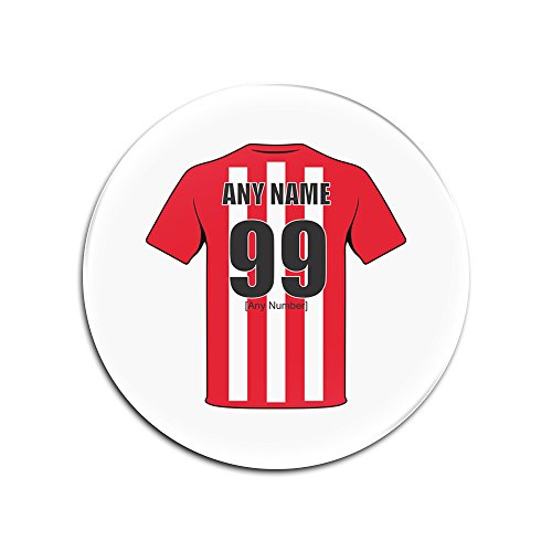 UNIGIFT Personalised Gift - Sunderland Glass Round Coasters (Football Club Design Theme, Colour Options) - Any Name/Message on Your Unique Mat Pad - The Black Cats AFC from UNIGIFT