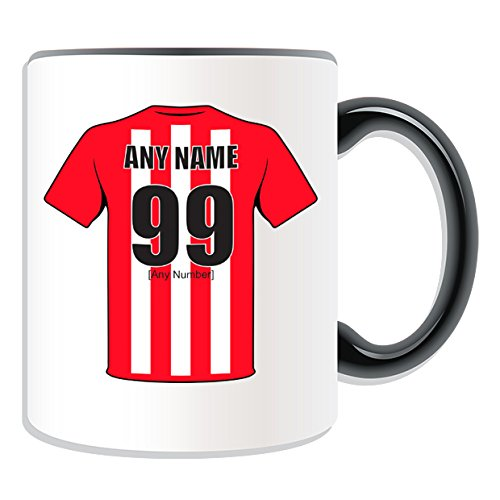 UNIGIFT Personalised Gift - Sunderland Mug (Football Design Theme, Colour Options) - Any Name/Message on Your Unique Mug - The Black Cats Club from UNIGIFT